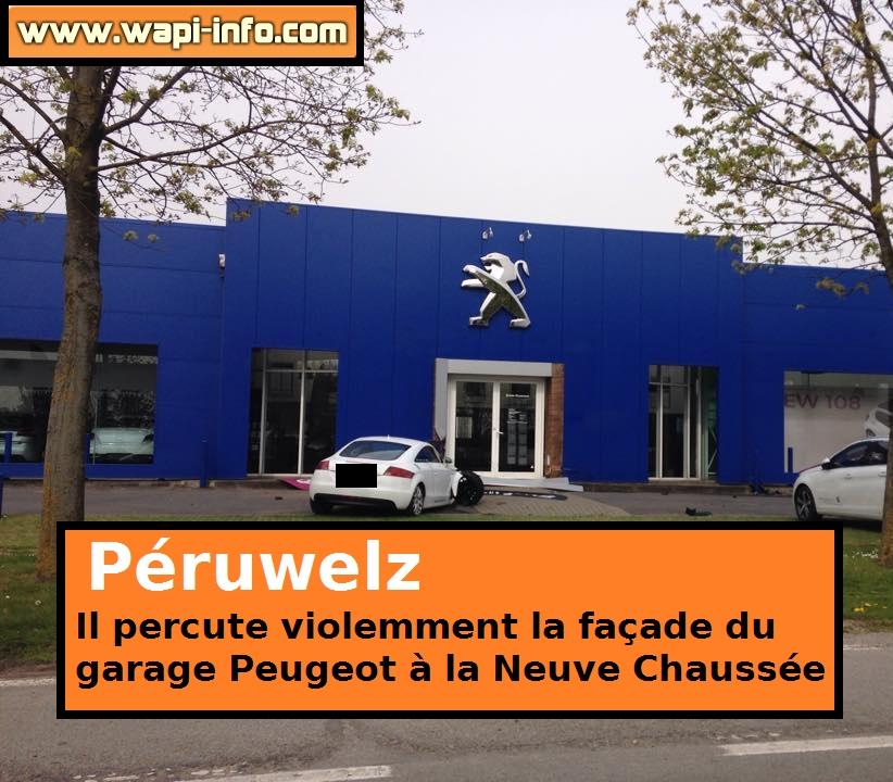 P ruwelz une audi percute la fa ade du concessionnaire for Garage peugeot tournai